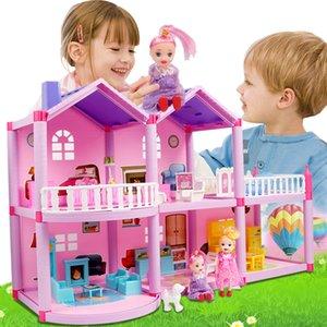 Дети DIY семьи Кукольный дом аксессуары игрушка с миниатюрной мебели Garage Собирают Casa Doll House Игрушки для девочек День рождения Подарок CX200818