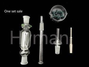 Hot Glass Nectar Collector Kit 10mm 14mm Quartz Domeless Titanium Tip Nectar Straw Dab Collector Bong Honeybird Accessories Rigs Water Pipes