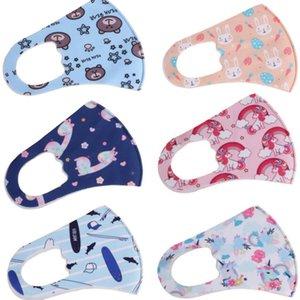 Schilde Seidenmasken Eiskinder Nette Maske Kinder, die atmungsaktive Anti-Thaze-Wiederholbare staubdichte gedruckte schützende kundengerechte mund vtom waschen