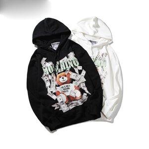 20 paio di felpa con cappuccio degli uomini parrucchiere hoodie strada hip hop cotone accoppiamento libero di alta qualità per gli uomini e le donne del panda Felpa con cappuccio stampa