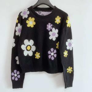 810 di trasporto libero 2020 autunno di marca Same Normale Stile maniche lunghe maglione girocollo nero Kint donne del vestito i vestiti QIAN