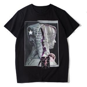 Mens estilista camiseta casuales para hombre Parejas de manga corta de algodón de alta calidad de las camisetas 2 colores M-2XL