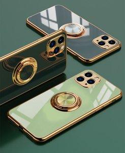 NF teléfono para el iPhone 12 11Promax 11Pro X / XS XR XSMAX 6 / 6S 6plus / 6S Plus 7/8 7plus / Nueva Galvanizado vehículo de absorción magnética 4-Estilo
