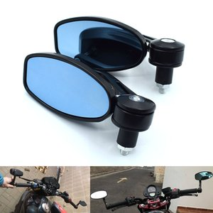 "Universal 7 8"" 22mm Motorcycle Mirrors Rear View Handle Bar End Rearview Side Mirrors Oval For Suzuki GSX1200F GSX1200SA GSF1200"
