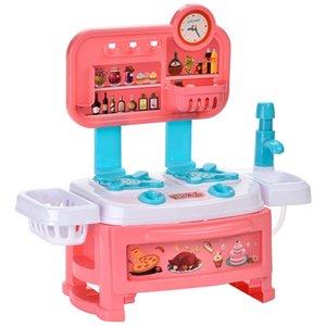 Fogão de cozinha Brinquedos Mini Cozinhar Pretend Play Toy talheres Set Simulação Play House Chef-cabeças presentes Brinquedos menina do menino