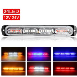24LED 72W Emergenza Strobe Light Bar universale di segnalazione lampeggiante Lampada Bar per Pickup Truck Fuoristrada 12-24V Auto Moto