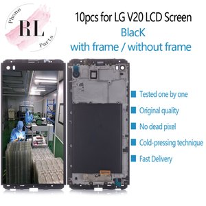 10pcs pantalla LCD original para LG VS995 VS996 V20 pantalla LCD LS997 H910 digitalizador de pantalla táctil con el marco de la Asamblea de piezas de repuesto