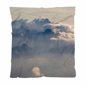 Mantas personalizadas de colores completa la impresión digital de la franela, topview De Mt Zugspitz, Sofá / Silla / asiento de amor / Manta autocaravana