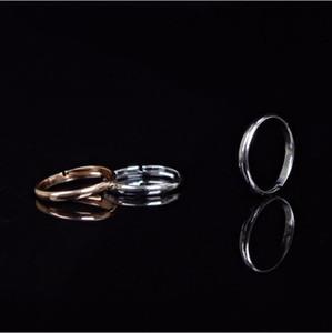 Anéis Jóias Moda feminina de alta qualidade Ouro / Prata liga banhado Círculo Glossy Toe ajustável Anéis Jóias