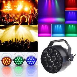 Par свет 12 LED RGB 3IN1 18W Освещение сцены эффект DMX 512 Club Disco Party Бальные КТВ Бар Свадебный DJ Проектор Прожектор