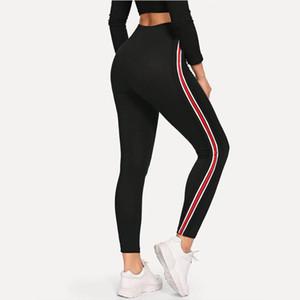 New Splicing webbing Leggins Woman Fitness Leggings Gothic High Elastic high quality Legging Workout Slim korean shei Black Pant