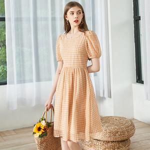 Summer new small fresh and sweet boudoir cut back Chiffon Dress womens dresses fashion dress skirt