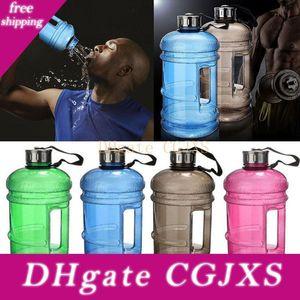 2 .2l de gran capacidad de la botella de agua Sports Training botella de agua de la aptitud camping Ejecución de botellas de plástico de agua jarra de recipiente 8color WX9 -7