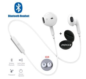 S6 Спорт шейным Беспроводные наушники Bluetooth наушники с микрофоном стерео наушники гарнитуры для iPhone 11 Xiaomi Huawei наушники