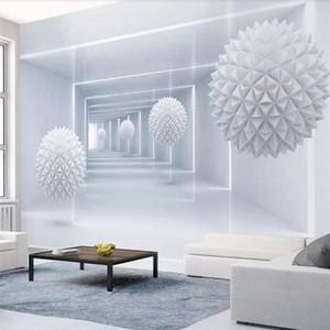 Papier peint personnalisé 3D Photo murale Abstrait Abstrait Polygon bille Simple Stéréo Salon TV Fond d'arrière-plan Papiers de mur Décor Mural HD WA V1G5 #