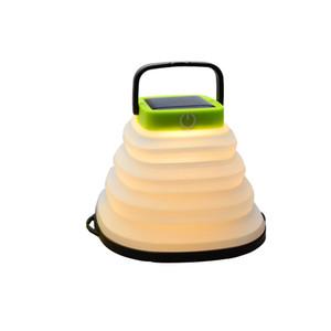 Dobrável portátil Solar Powered Camping Luz Solar Lamp Tent USB recarregável impermeável ao ar livre pendurado lâmpada Luz Solar