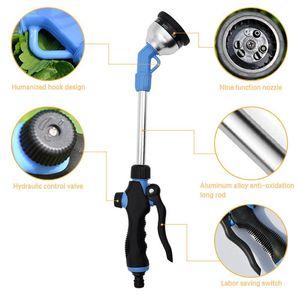 Water Gun Bico Longo Handle água Pistola de alta pressão Irrigação Multi-função Outdoor Gardening pulverizador de água ajustável Handheld