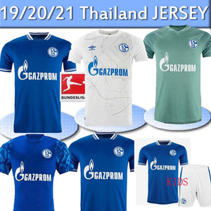 20 21 FC Schalke 04 Soccer Jersey Bentaleb 2019 2020 Schalke Caligiuri كرة القدم قميص Kutucu Burgstaller McKennie Fußball-Trikot