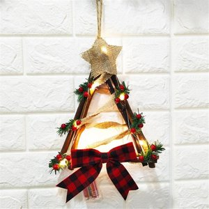 Home Decoration Wreath Pendant LED Wreath Wall Hanging Christmas #3S20