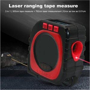 3-in-1 Digital multi-funzione misura di nastro laser infrarosso tester di distanza strumento di misurazione Range Finder Rotolo Cord Modalità Gauge strumento