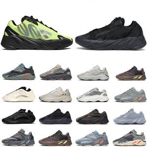 2020 zapatos corrientes del mens formadoras Kanye 700 reflectante Triple Negro Naranja Fósforo imán Azael Wave Runner zapatillas de deporte los hombres de la moda
