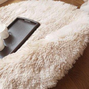 Polyester Fiber Anti-Skid Fluffy Rugs Bedroom Sofa Shaggy Floor Carpet Floor Home Warm Tie-Dyed Mat Living Room Decoration