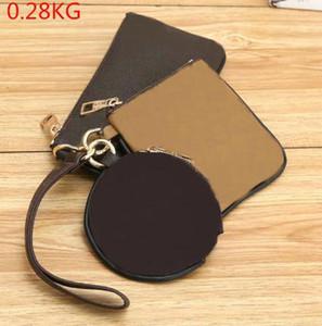 مل 3pcs M69443 / مجموعة حقيبة بطاقة Pochette TRIO رسول المتميز أزياء الرجال والائتمان سحاب محفظة محفظة