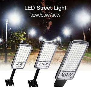Светодиодный уличный свет 30W 50W 80W IP67 Водонепроницаемый Super Bright Прожектор Лампа для улицы и сада Путь Света во дворе