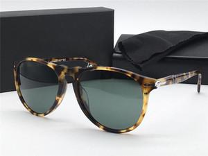 Fashion designer sunglasses 9649 classic retro aviator frame glass lens UV400 protective glasses with leather case vintage retro top quality