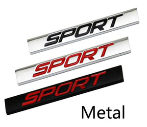 Sport Logo Square Bar en alliage de zinc Car Styling Emblem Badge automatique Réaménagement 3D Sticker Decal pour VW