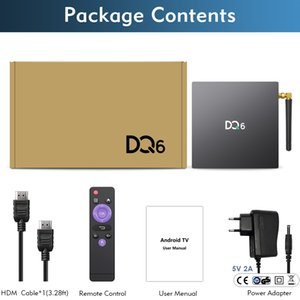 New Arrival DQ6 RK3318 TV box 4GB 64GB Android 10 OS Smart set top box dual wifi bt