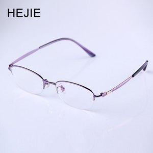 Forma pura de titanio gratuito Hejie Mujer del interior multifocal progresiva Reading Glasses Sin línea de lejos a cerca de 3 Sight + 1,0- + 4,0 Y1119