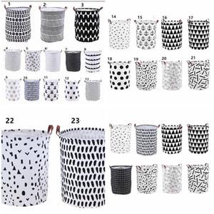Cestas de almacenamiento INS cubos para la ropa Cesto de ropa canasta de almacenamiento Organizador Bolsa de lavandería del lunar de lavandería KKA8040
