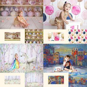 Partido Crianças de aniversário da foto Background Fotografia de Fundo Retrato recém-nascido para o chuveiro Photo Studio bebê Photoshoot Props
