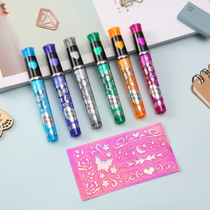 Promotional Multi-color Glittering Diy Body Art Tattoo Pen Set Temporary Sketh Sparkle Tattoo Art Pen For Kids Drawing on Body and Skin