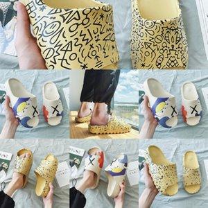 Moda MetalBeach desenho animado Deslize Sandals Senhoras Chinelos p6BV6 Sandálias do verão de borracha exteriores chinelos Flats interior Casual Shoes Big Size y