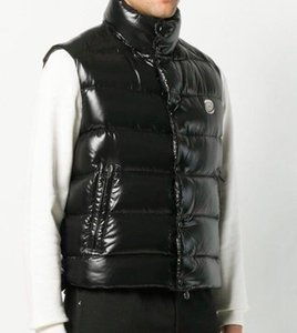 남성과 여성 가을과 겨울 두꺼운 슬리밍 반짝 조끼 조끼 흰색 오리 다운 조끼 재킷 아래로
