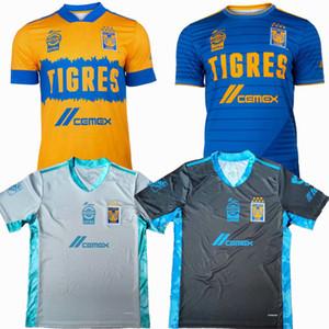Liga MX 2020 2021 Tigres UANL Soccer Jerseys 7 étoiles GIGNAC maison loin 20 21 hommes de football les femmes et les enfants chemise 4XL
