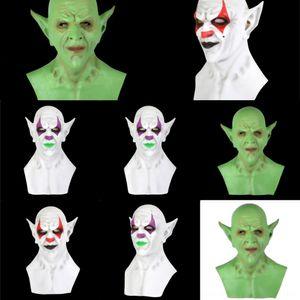 pkrHi Adult Clown Maske Haube Partei Horror Maske Deluxe imp Freddy Halloween Emulsion Scary Krueger Karneval Cosplay Zombie-Kostüm-Schablonen