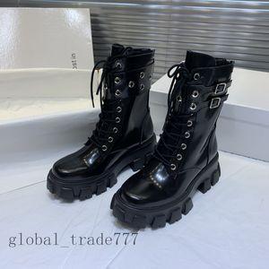 2021 Fashion Women Boots Platform Boot Boot Boots Boots Black Red Heel Flamingos Medal Perdido en Ech0 Botas Zapatos Clásicos Pesados Zapatillas De Zapatillas