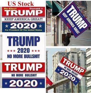 Elección de los EEUU Stock 2020 Trump Banderas 90 * 150 cm poliéster Bandera impresa Trump Keep America gran presidente Nuevamente campaña de banners DHL envía FY6061