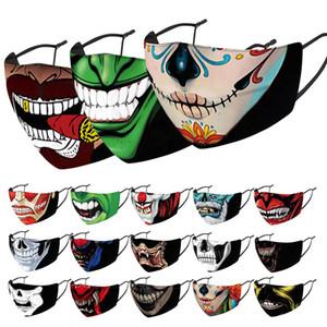 New Arrival  face masks Halloween masks Smoking uncle mask skull mask 3D printed cloth replaceable filter adult mask