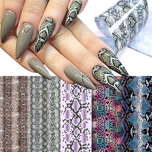 20pcs Snakeskin Nail Foils Starry Foil Transfer Sticker Sexy Sliders Summer Nail Art Decorations