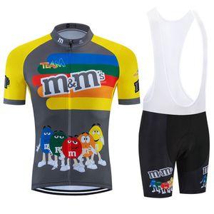2020 Komik Takım Bisiklet Jersey önlük Kısa 9D MTB Bisiklet Giyim Ropa Ciclismo Bisiklet Giyim Giyim Erkek Maillot culotte set