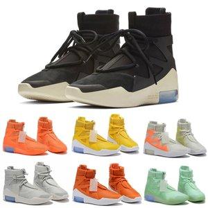 2020 الخوف من الله 1 أحذية أحذية الثلاثي الأسود البرتقال السامية الكاحل الرياضة حذاء رياضة رجل الشتاء سكيت أحذية نسائية التمهيد