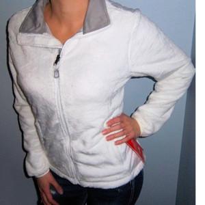 2021 NOUVEAU Osito Osito Fleece Zip de fermeture à glissière Fashion Ruban Rose Eductionnelle Vignette Blanc Blanc Blanc Outwear S-XXL