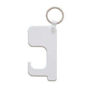 Sublimation Blank Door Opener Wooden Keychain Avoid Touching Bacteria Key Chain Non-contact Door Handle Keychain Press Elevator Tool