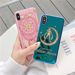 Sailor moon designs necktie cute Phone Case For iPhone 7 8 SE XR Xs 11 pro max Cool Blu-Ray Cover Cute Cases