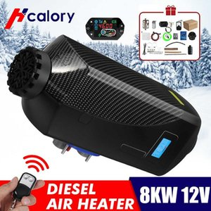 HCalory 12V 8KW Car Diesels Air Parking Heater Car Heater LCD Remote Control Monitor Switch + Silencers for Trucks Bus Trailer