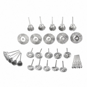 30pcs set Stainless Steel Wire Brush Set Cleaner Polishing Brushes Cup Wheel For Dremel Rotary Tool sN49#